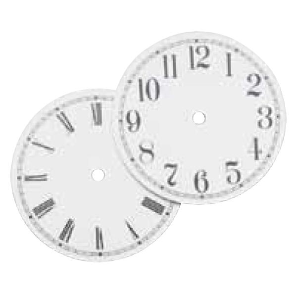 Assorted Metal Dials_White Enamel